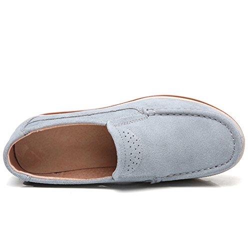 Lakerom de de Gris para Ante Protección Mujer Calzado RZqRaF