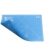 ANSIO Cutting Mat Self Healing A3 Double Sided 5 Layers Imperial/Metric 17 Inch x 11 Inch / (44cm x 29cm) - Sky Blue/True Blue