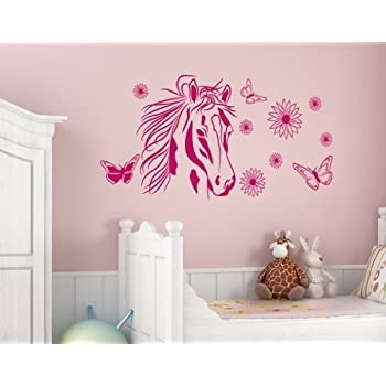 Flower Horse Wall Decal By Style U0026 Apply   Wall Sticker, Vinyl Wall Art, Part 64