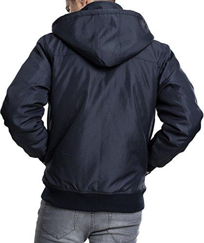 155 Giacca Heavy Urban Jacket Classics Uomo Blau navy Hooded PwwF68Wnq