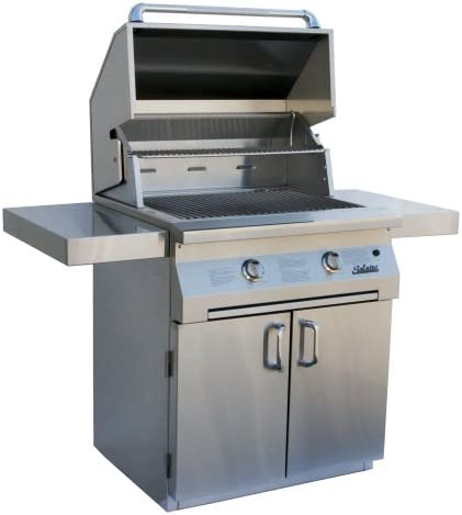 Solaire 30-Inch InfraVection Natural Gas Cart Grill, Stainless Steel
