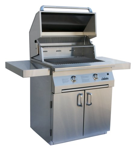 Solaire 30-Inch InfraVection Natural Gas Cart Grill, Stainless Steel For Sale