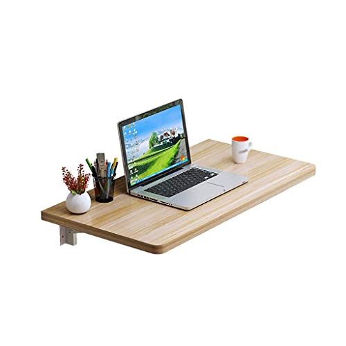 - MEI Computer armoires Folding Table Wall-Mounted Table Environmentally Friendly Material Desk for Computer Desk Dining Table Balcony Shelf, Light Walnut (Size : 50x40cm)