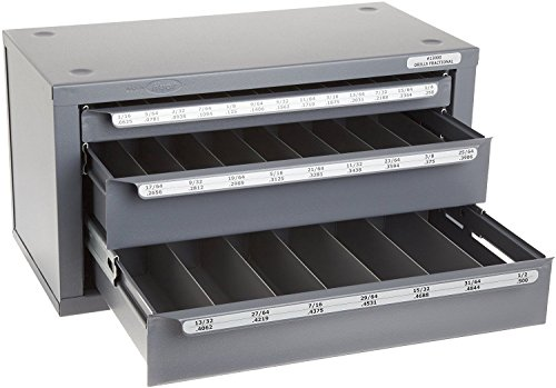- Huot 13000 Three-Drawer Drill Bit Dispenser Cabinet for Jobber Length Fractional Sizes 1/16