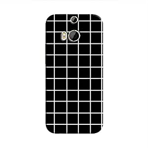Cover It Up - Black Grid One M8Hard Case
