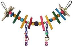 Super Bird Creations 2 by 11-Inch Mini Rainbow Bridge Bird Toy, Small