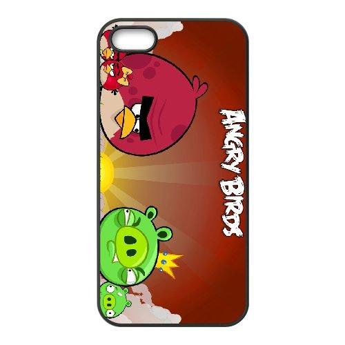 Angry 014 coque iPhone 5 5s cellulaire cas coque de téléphone cas téléphone cellulaire noir couvercle EEEXLKNBC26954
