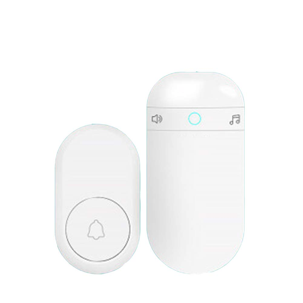 1transmitter+1receiver Home Wireless Doorbell, Plug-in Receiver + Transmitter (Self-Powered), ABS Material, Family Company,1Transmitter+1Receiver