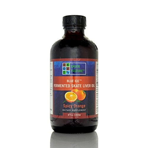 Green Pasture Blue Ice Fermented Skate Liver Oil - Spicy Orange - 8 Fl Oz