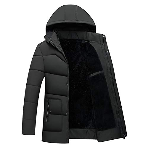 Coat Men Green Hood Cotton Windproof Warm Popular Clothing Outwear Coffee Fashion Outdoor Outwear Huicai Warm Oa7qHdxO
