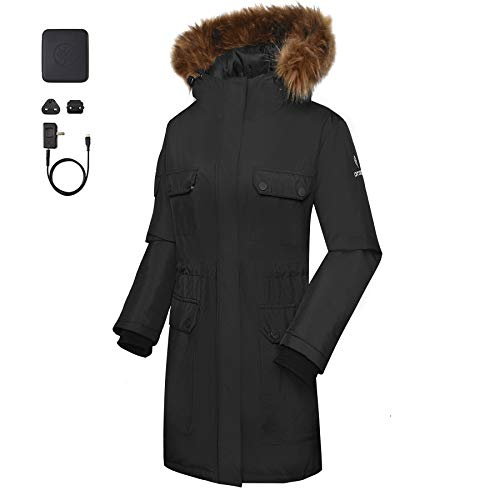 1f85f30b1afd ororo Women s Heated Parka Jacket with SMAWARM Insulation (Battery  Included) ...