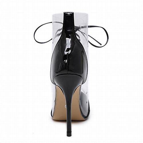 Talon À Lanières color Pour Black Sakuldes Femmes Size Pointues Et Hauts Croisées Talons Black Sandales 40 xgCqTTwEp