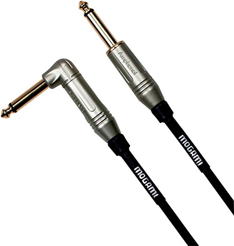 (Mogami Silver Series Guitar Cable Straight to Right Angle 12 ft.)