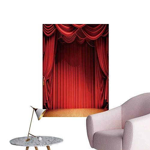 (SeptSonne Modern Decor Velvet Curtains Wooden Stage Floor Ideal Kids Decor or Adults,12