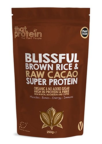 That Protein Organic Vegan Plant Protein and Superfood Blissful Brown Rice and Raw Cacao, 250 g