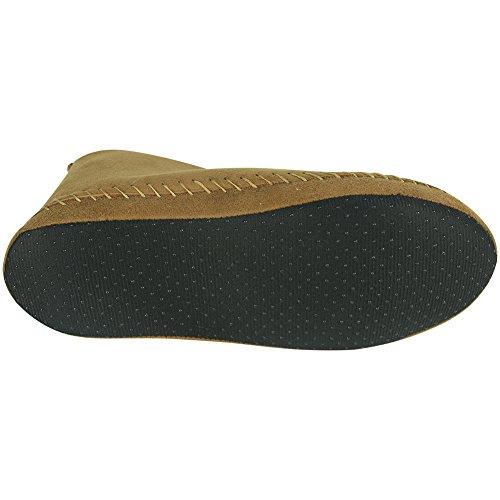 Men's Soft Chestnut Slipper Forfoot Unisex Slip Suede Fleece Women's House Booties Lining A Indoor Non EqxZFBtw
