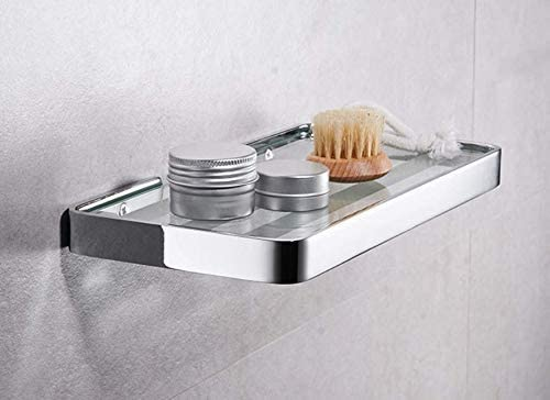 収納ラック棚 浴室ガラス棚シャワールームシャワールームミラーフロントシェルフホテル携帯電話ラックトレイブラケット 家のホテルの装飾のため