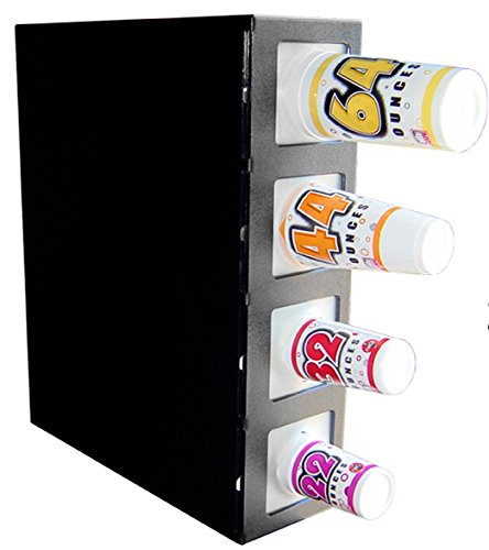 """C-832 Fountain by PPM: Cabinet Type Fountain Cup Dispenser Organizer Rack, Black Plastic, 7.875""""W x 23""""D x 28""""H with 4 Cup Sizes - Bumble-free by PPM Sales (Image #4)"""