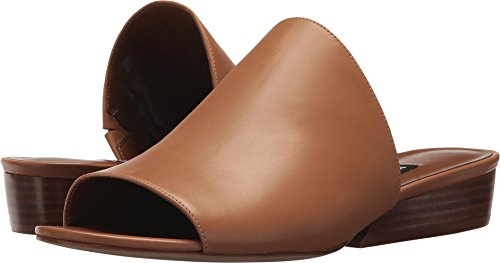 Nine West Women's LYNNEAH Leather Mule, Dark Natural Leather