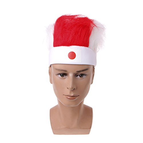Best-Topshop World Cup Wig Hair Soccer Fans Headband National Flag Olympic Games Cheering Hat (National Costumes Of Japan)