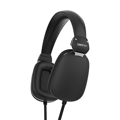 Betron HD500 on Ear Headphones, Bass Driven Sound, Light Weight Black