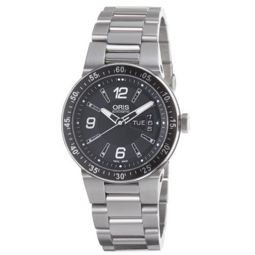 Oris Men's 4164MB Williams F1 Team Black Dial and Stainless Steel Case Bracelet Watch