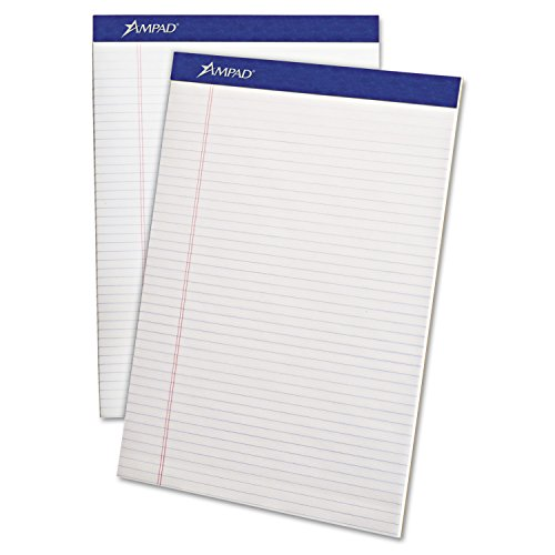 - Ampad 20322 Perforated Writing Pad, 8 1/2 x 11 3/4, White, 50 Sheets (Pack of 12)