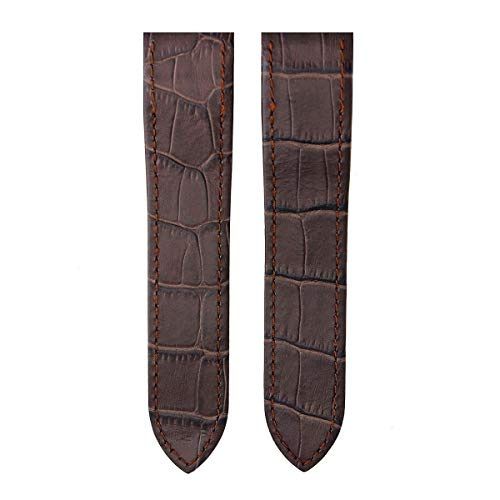 Cartier Brown Strap - 23MM Leather Watch Band Strap Deploy Clasp FIT Cartier Santos 100 XL D/Chocolate