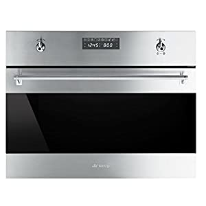 Smeg SU45MCX1 Classic Built-in Speed Oven with 1000W Microwave and 10 Cooking Modes, Stainless Steel 6