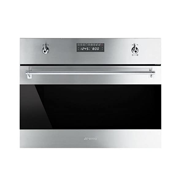 Smeg SU45MCX1 Classic Built-in Speed Oven with 1000W Microwave and 10 Cooking Modes, Stainless Steel 1
