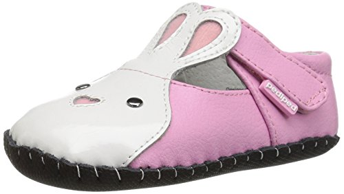 pediped Girls' Bonnie Mary Jane, Pink, Small E/4-4.5 E US Infant