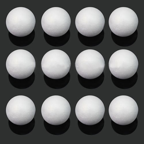 Brussels08 10 Pcs Styrofoam Smooth Foam Balls Creative DIY Craft Ball Spheres Ornament Christmas Snowman Mold for Arts Crafts Floral Arrangement Wedding Decor Science Modeling School Projects 5 cm