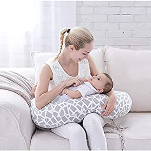 Amazon.com: Almohada de lactancia materna, para bebé, con ...
