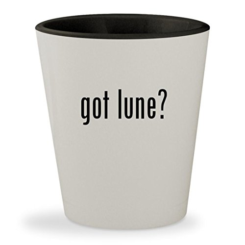 got lune? - White Outer & Black Inner Ceramic 1.5oz Shot - Claire Glasses Marie