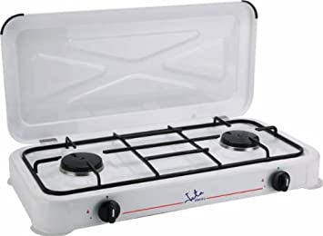 Jata CC305 Cocina de Gas para Camping con 2 quemadores, 0 W, 0 Decibeles