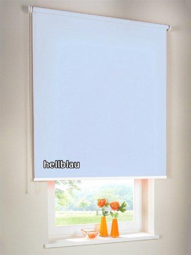 Sichtschutzrollo Seitenzugrollo Kettenzugrollo Rollo Sichtschutz 112 x 180 cm / 112x180 cm hellblau - Bedienseite links