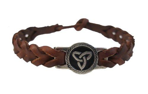 Trinity Knot Meaning (Irish Friendship Bracelet Trinity Knot Brown Faux Leather Braided)