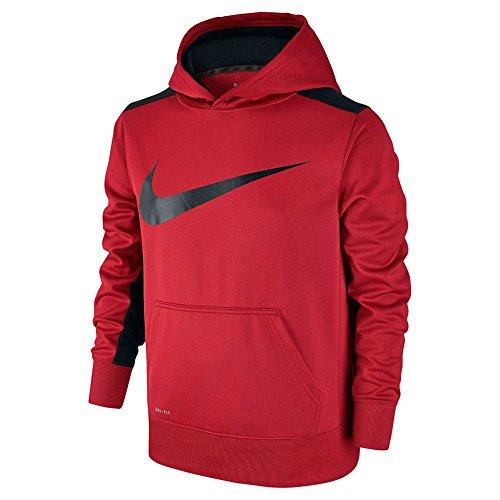 Nike Youth Boys Therma Training Hoodie ATHLETIC SHIRT University Red Black (M 10/12)