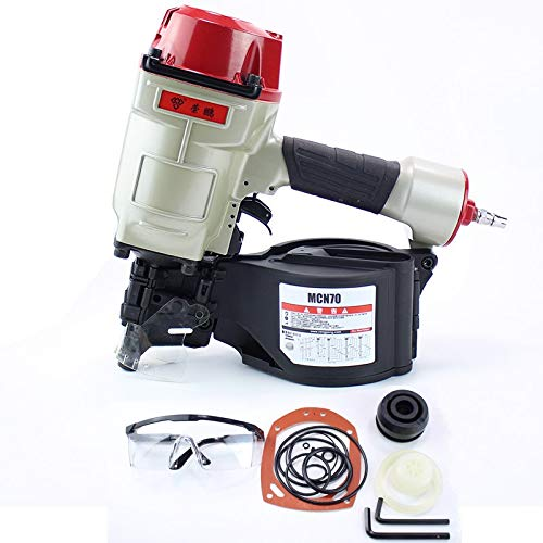 SYH01 Quality CN70 Pneumatic Coil Roofing Nailer Air Nailing Gun Tool Air Nail Gun Set Compressor Nails