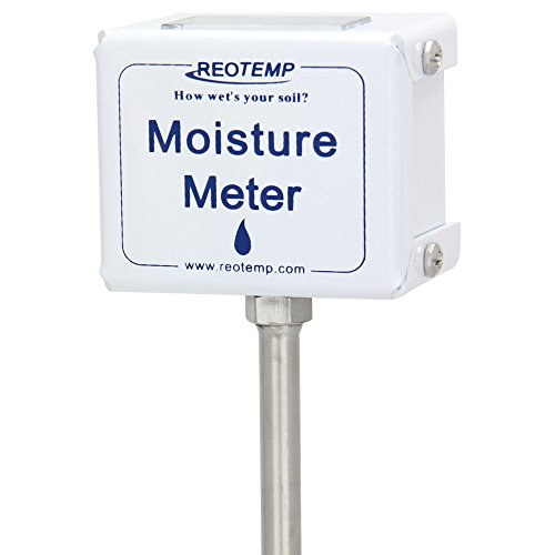 REOTEMP Garden and Compost Moisture Meter (15 Inch Stem), Garden Tool Ideal for Soil, Plant, Farm and Lawn Moisture - Soil Moisture Measure