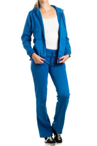 Women's Two Piece Fleece Set : VKN by Gazoz Royal Large