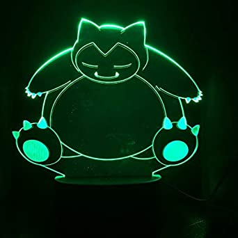 Pokemon Go Snorlax Figura Luz nocturna para niños Sensor táctil ...