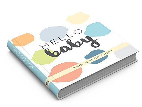Hello, Baby - A Modern Baby Memory Book (Aqua/Green/Grey/Blue)