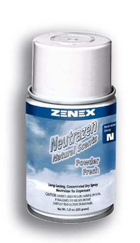 Zenex Neutrazen Powder Fresh Scent Metered Odor Neutralizer - 12 Cans (Case)