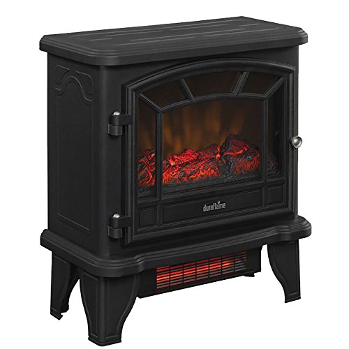 duraflame-dfi-550-22-infrared-electric-stove-heater-old-fashioned-black-5200-btus-by-duraflame