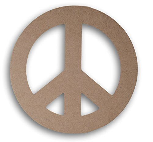 Wooden Peace Sign (Darice Pressed Wood Peace Sign - 8 Inches)