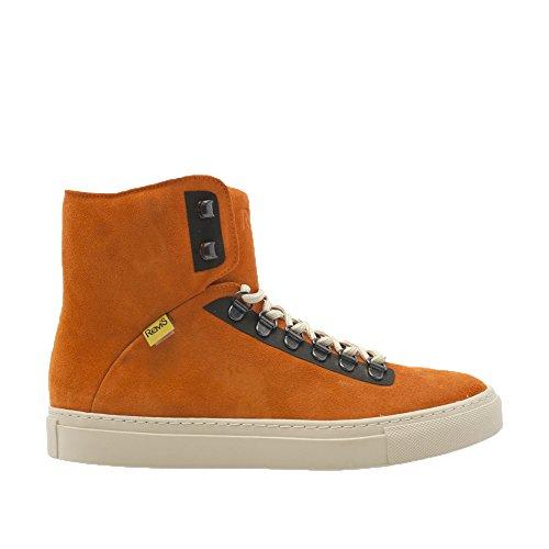 Rems Medan Mocka High Top Sneaker Apelsin