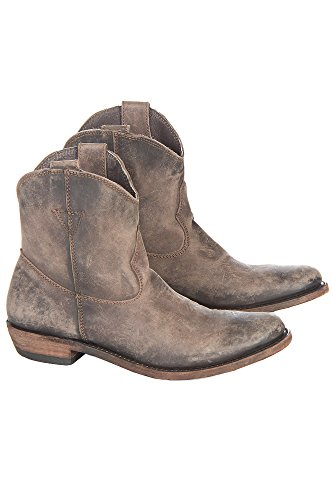 Women's Liberty Black American Distressed Leather Ankle Cowboy Boots (Ankle Cowboy Boots)