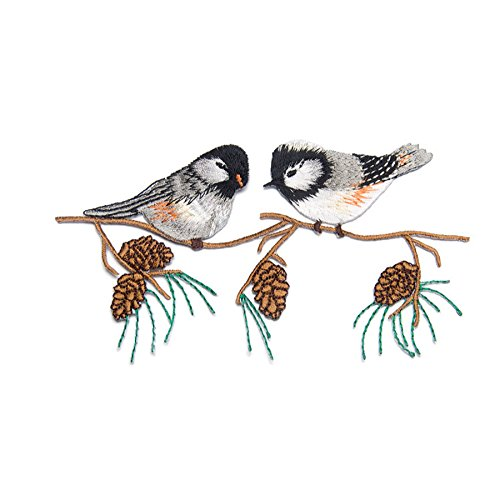Ownstyle Bird Embroidered Patch DIY Appliques Sew Iron on Patch Decorative Patches for Children 2 PCS (I)