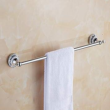 Durable INICIO Barra de toallas baño barra individual toallero de baño estante de baño colgar en la pared golpe libre: Amazon.es: Instrumentos musicales